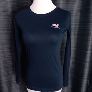 Vineyard Vines Long Sleeve Tee Navy Size XS